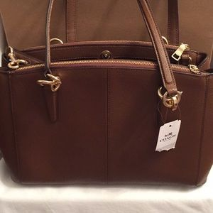 Coach Saddie 2 Pebble leather purse